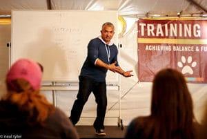 Cesar teaching at Training Cesar's Way.