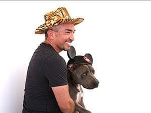 Cesar Millan with a dog