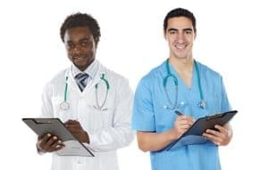 image of two veterinarians