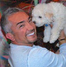 cesar's way - cesar with a puppy