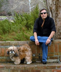 Jose Feliciano with dog