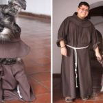 Stray Dog Wandered Into A Monastery So They Made Him An 'Honorary Friar' To Encourage Pet Adoptions